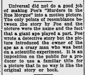 Murders in the rue Morgue, The Evening Independent, January 19, 1933
