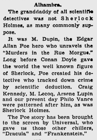 Murders in the rue Morgue, The Milwaukee Sentinel, February 11, 1932 b