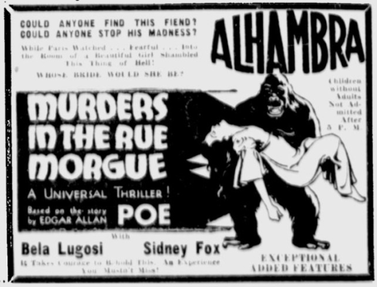 Murders in the rue Morgue, The Milwaukee Sentinel, February 11, 1932