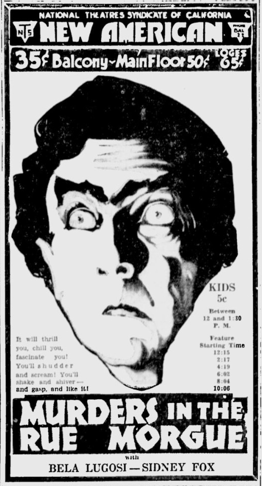Murders in the rue Morgue,San Jose News, April 13, 1932 b