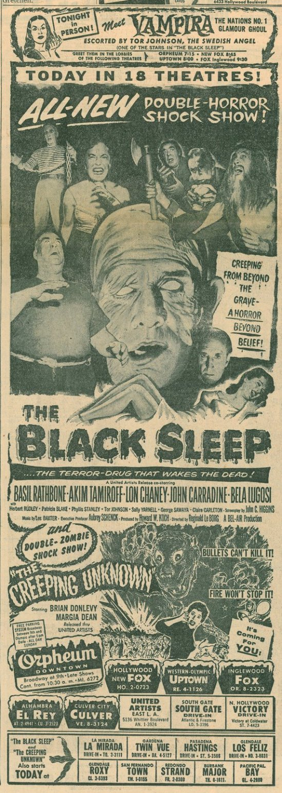 The Black Sleep Newspaper Ad