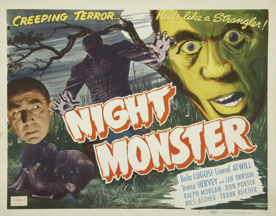 Night Monster 1949 Re-Release Lobby Card 1
