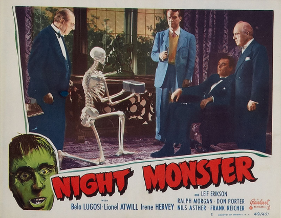 Night Monster 1949 Re-Release Lobby Card 2