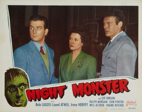 Night Monster 1949 Re-Release Lobby Card 4
