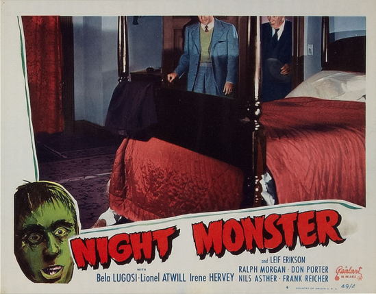 Night Monster 1949 Re-Release Lobby Card 5