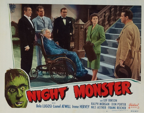 Night Monster 1949 Re-Release Lobby Card 6