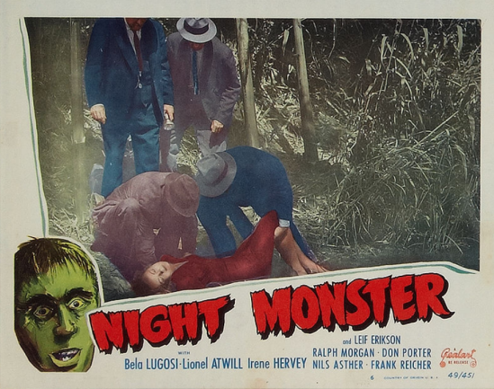 Night Monster 1949 Re-Release Lobby Card 7