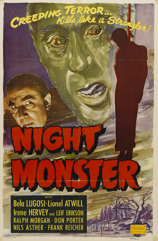 Night Monster 1949 Re-Release One Sheet