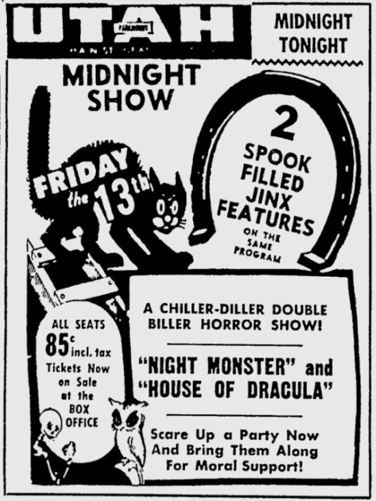 Night Monster, The Deseret News, February 13, 1953