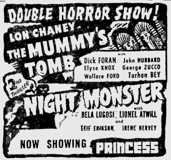 Night Monster, The Montreal Gazette, February 13, 1943