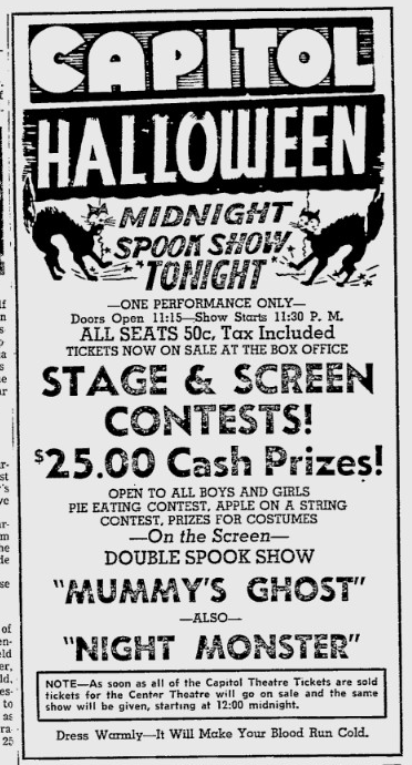 Night Monster, The Owosso Argus-Press, October 29, 1949