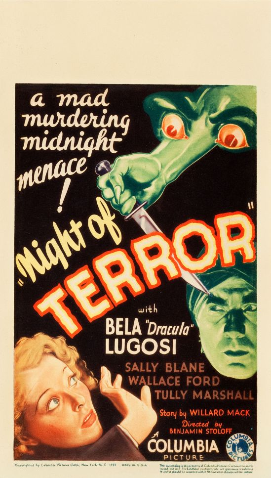 Night Of Terror Midget Window Card