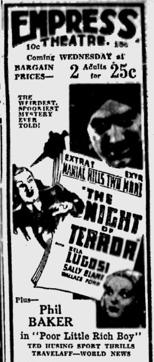 Night of Terror, Spokane Daily Chronicle, July 25, 1933