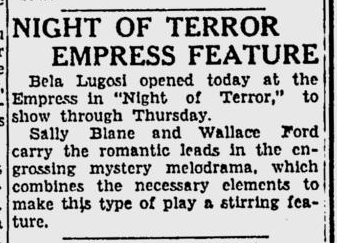 Night of Terror, Spokane Daily Chronicle, July 26, 1933 b