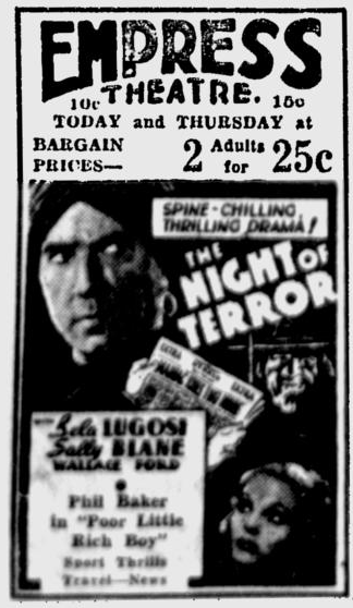 Night of Terror, Spokane Daily Chronicle, July 26, 1933