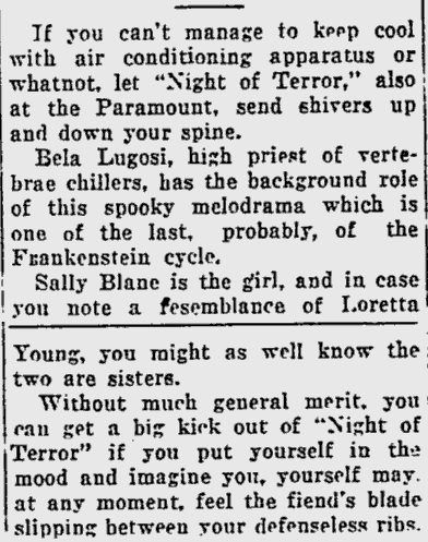 Night of Terror, The Miami News, July 22, 1933