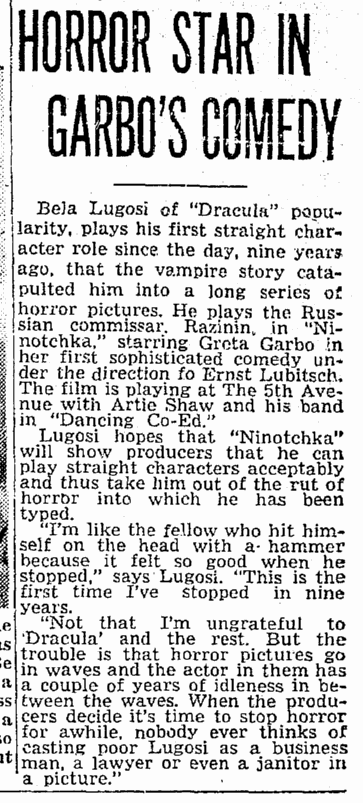 Ninotchka, Seattle Daily Times, December 1, 1939