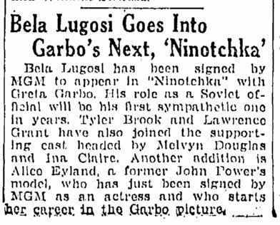 Ninotchka, Springfield Republican, July 9, 1939