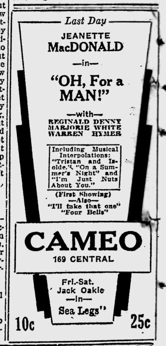 Oh, For A Man, The Evening Independent, March 23, 1931