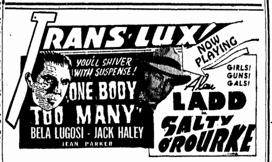 One Body Too Many, Boston Herald, August 27, 1947