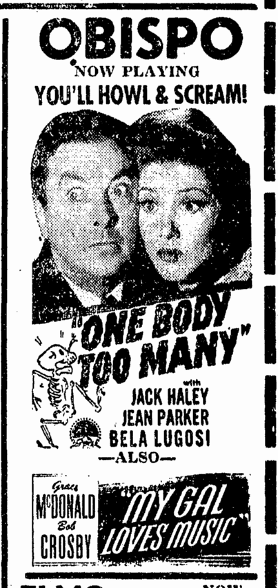 One Body Too Many, San Luis Obispo Daily Telegram, December 21, 1944