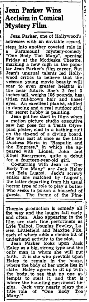 One Body Too Many, The Augusta Chronicle, January 14, 1945 2