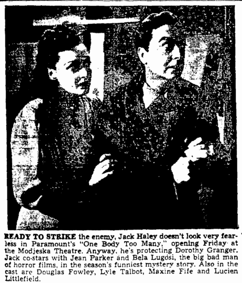 One Body Too Many, The Augusta Chronicle, January 14, 1945