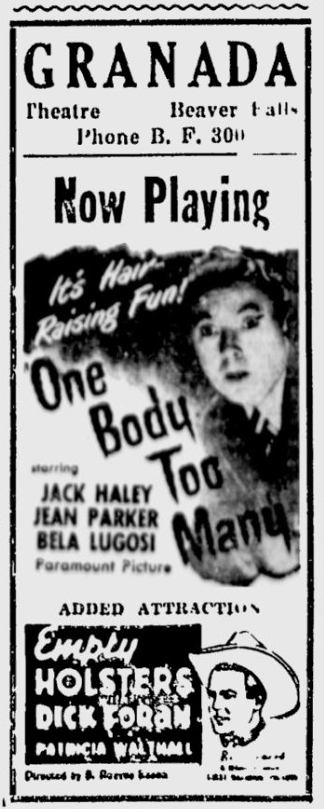 One Body Too Many, The Daily Times, January 25, 1945