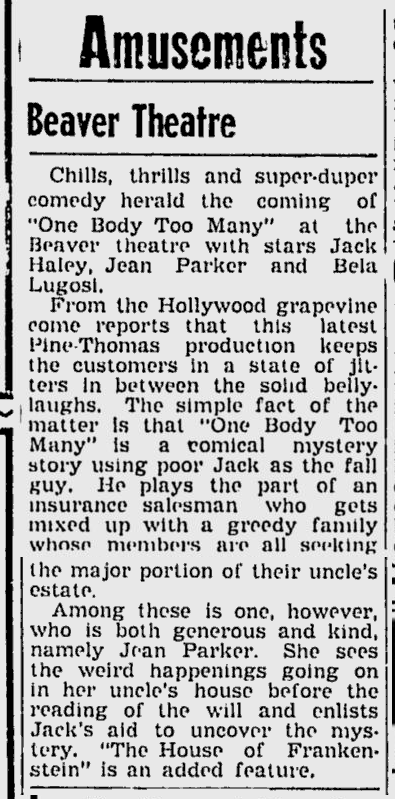 One Body Too Many, The Daily Times, July 12, 1945 b