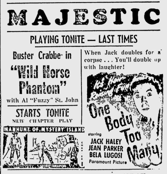 One Body Too Many, The Daily Times, March 10, 1945