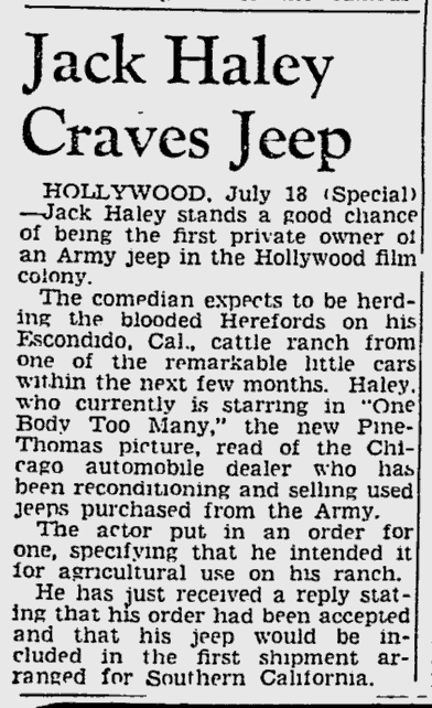 One Body Too Many, The Pittsburgh Press, July 18, 1944