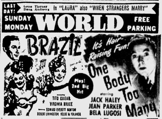 One Body Too Many, Toledo Blade, March 3, 1945