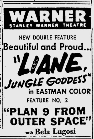 Plan 9 From Outer Space, Reading Eagle, October 23, 1958 2