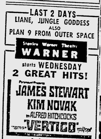 Plan 9 From Outer Space, Reading Eagle, October 27, 1958