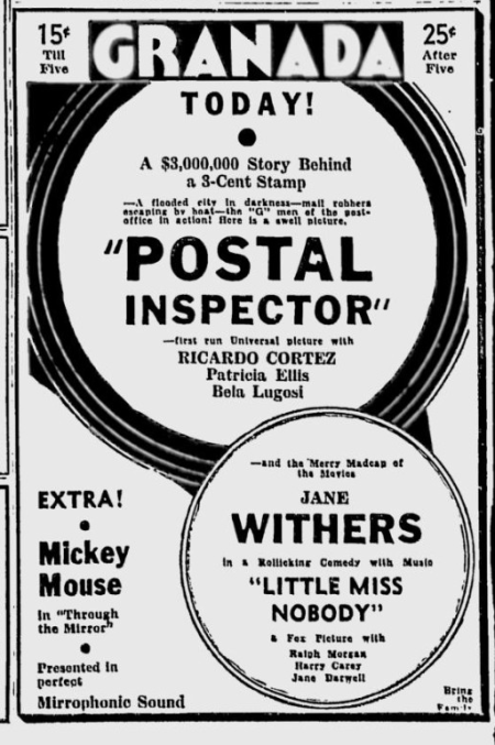 Postal Inspector, Spokane Daily Chronicle, November 24, 1936 c