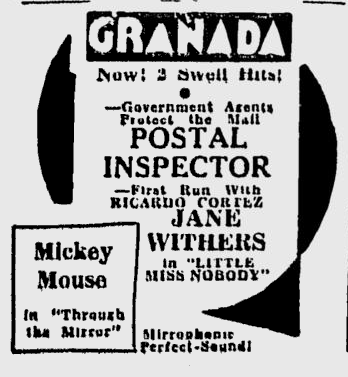 Postal Inspector, Spokane Daily Chronicle, November 25, 1936 b