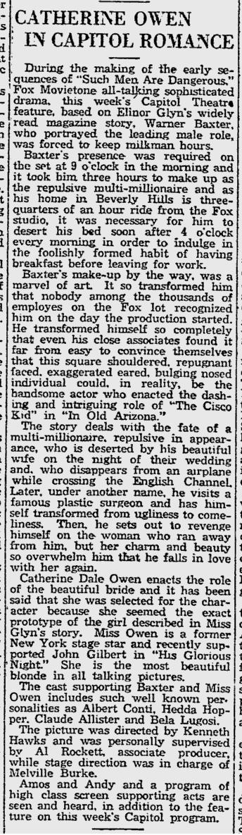Such Men Are Dangerous, Reading Eagle, April 13, 1930 2