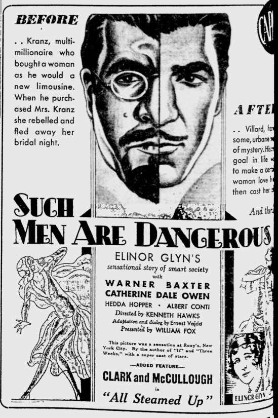 Such Men Are Dangerous, Reading Eagle, April 13, 1930