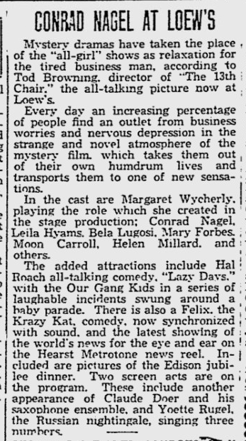 13th Chair Reading Eagle, October 30, 1929 (1)
