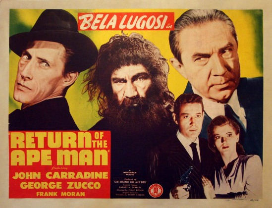 Return Of The Ape Man Title Lobby Card