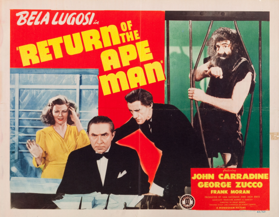 Return of the Ape Man, Half Sheet