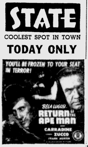 Return of the Ape Man, Herald-Journal, July 9, 1944