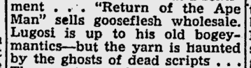 Return of the Ape Man, St. Petersburg Times, July 25, 1944