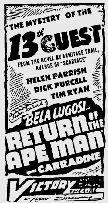 Return Of The Ape Man, The Montreal Gazette, February 8, 1946