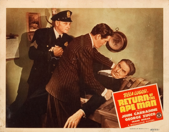 Return of the Apeman Lobby Card 6