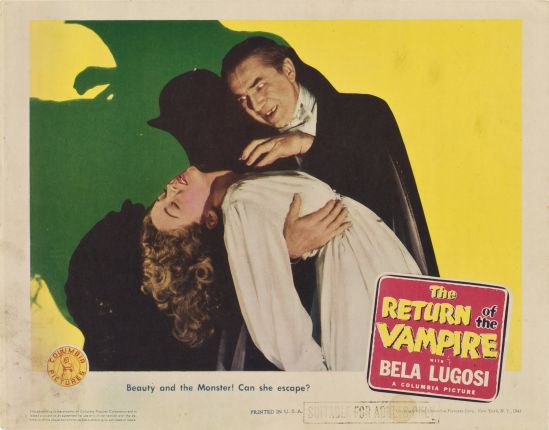 Return of the Vampire 1943 Lobby Card 2
