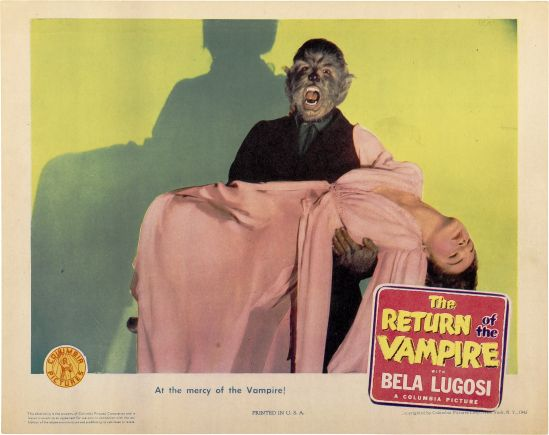 Return of the Vampire 1943 Lobby Card 3