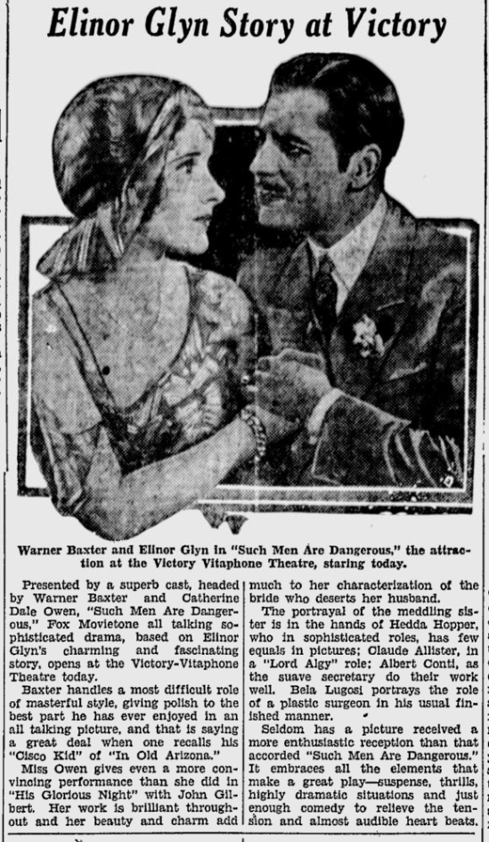 Such Men Are Dangerous, San Jose News June 24, 1930 2