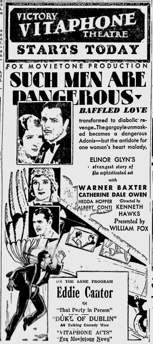 Such Men Are Dangerous, San Jose News June 24, 1930