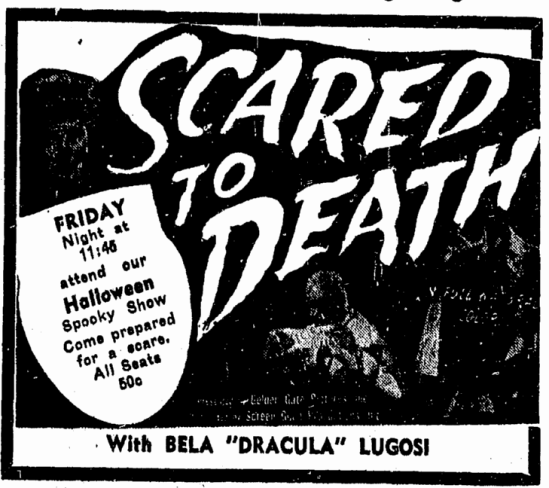 Scared To Death, Advocate, October 30, 1947
